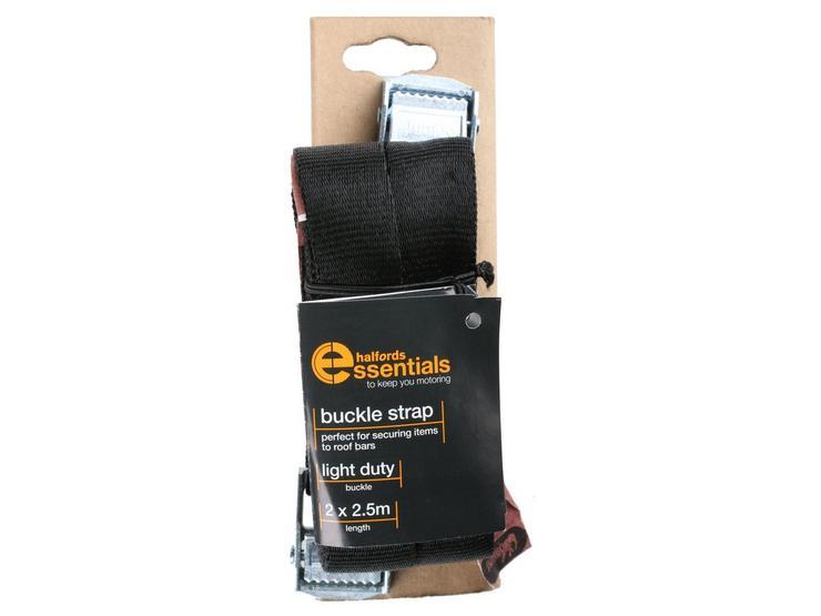 Halfords Essentials Buckle Strap 2.5m x2