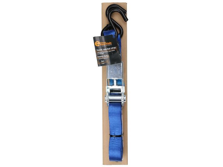 Halfords Essentials 5m Hook Ratchet Strap