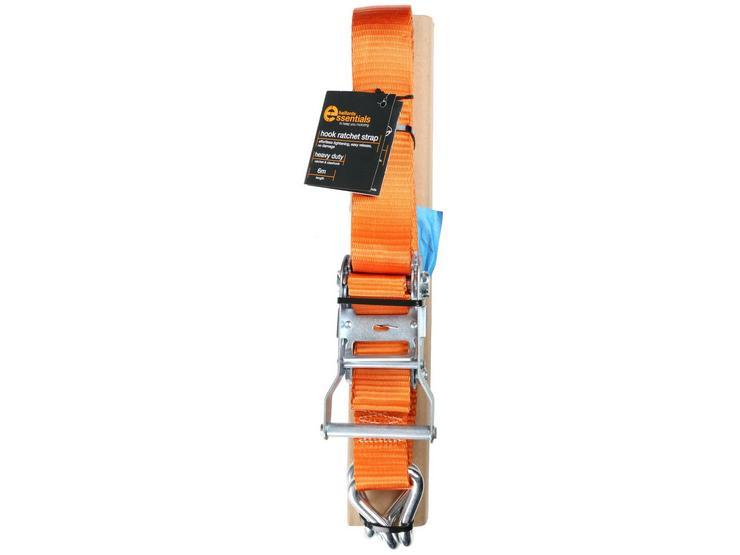Halfords Essentials 6m Hook Ratchet Strap