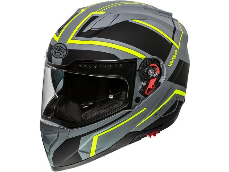 Premier Vyrus Helmet Grey/Neon Matt - Small