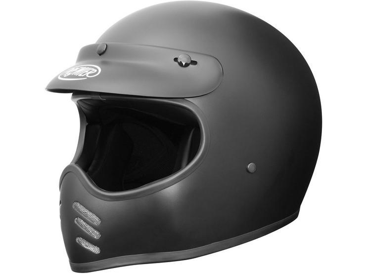 Premier MX Vintage Helmet Matt Black