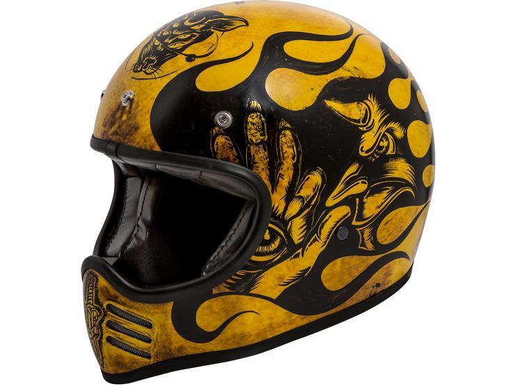 Premier MX Vintage Helmet Matt Yellow