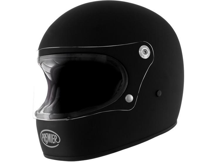 Premier Trophy Vintage Helmet Matt Black