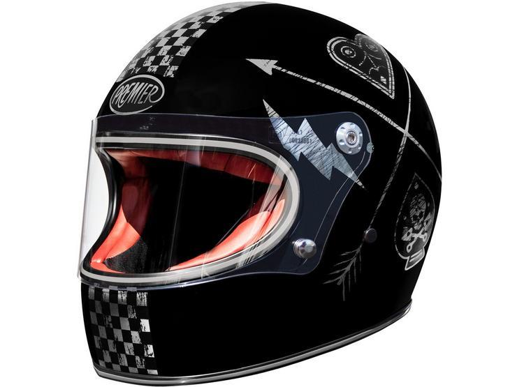 Premier Trophy Vintage Helmet Black/Silver