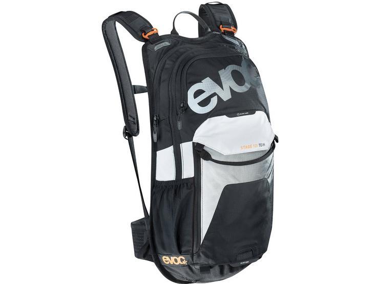 Evoc Stage 12L Performance Backpack - Black/White/Neon
