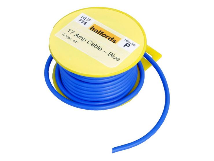Halfords 17 Amp Cable Blue HEF734