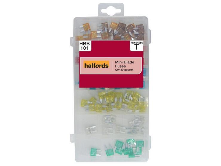 Halfords Assorted Mini Blade Fuses HBB101
