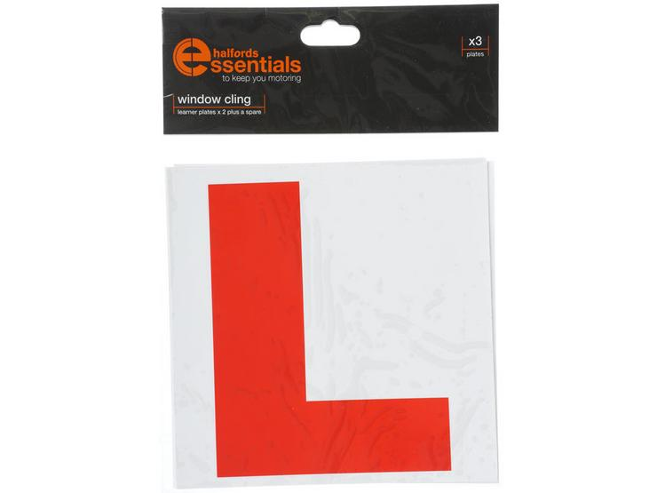 Halfords ROI Self Cling Learner Driver Plates x3