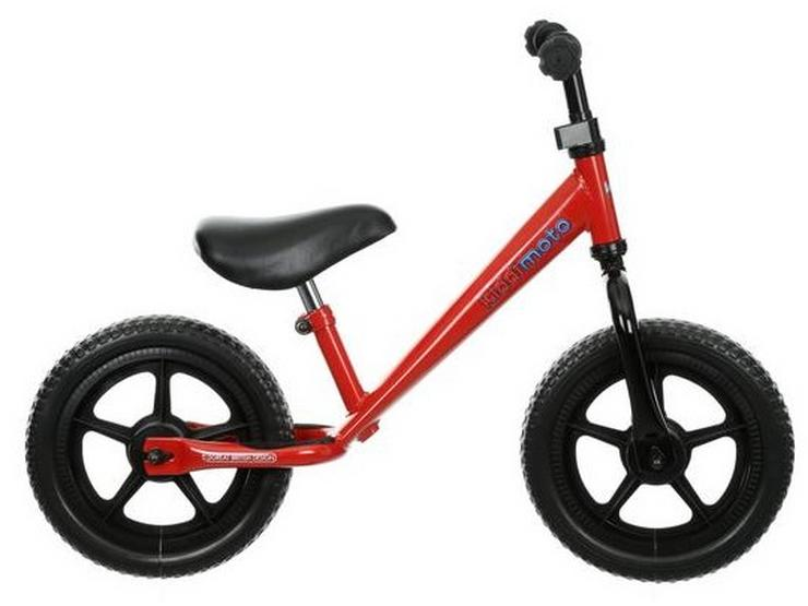 "Kiddimoto Red Super Junior Balance Bike - 12"" Wheel"