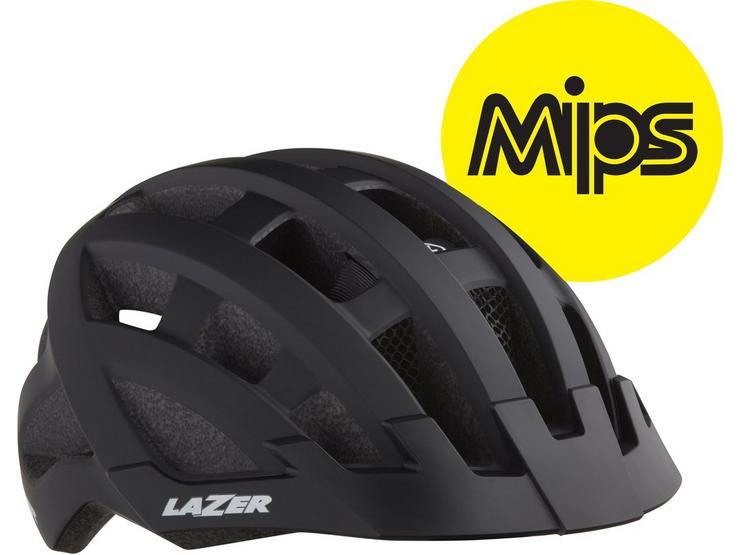 Lazer Compact DLX MIPS Helmet Black Adult