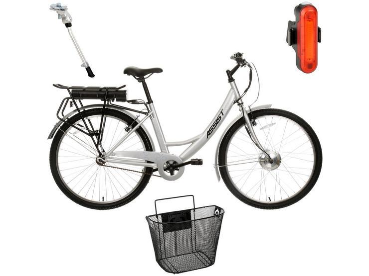 Assist Step Thru Electric Bike and Must Have AccessoriesBundle