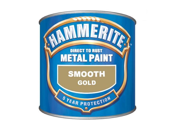 Hammerite Smooth Finish Gold 250ml