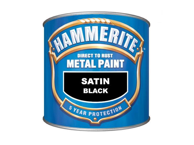 Hammerite Satin Finish Black 250ml