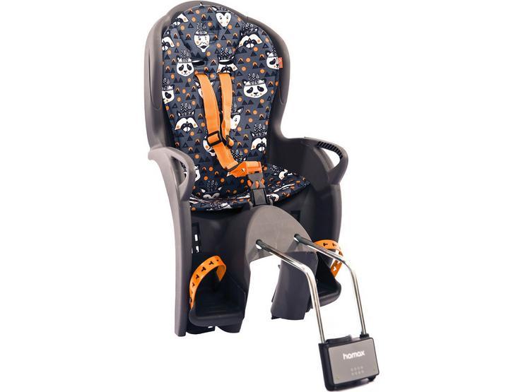 Hamax Kiss Rear Frame Seat Grey / Orange Animals