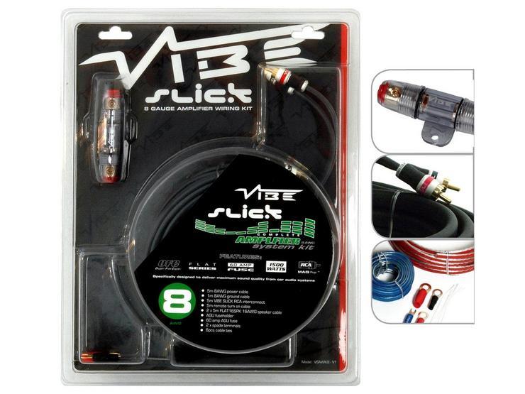 Vibe Slick 8 Gauge Amplifier Wiring Kit