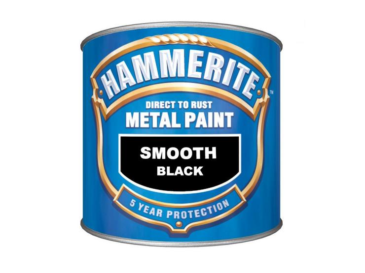 Hammerite Direct to Rust Metal Paint Smooth Black 2.5L