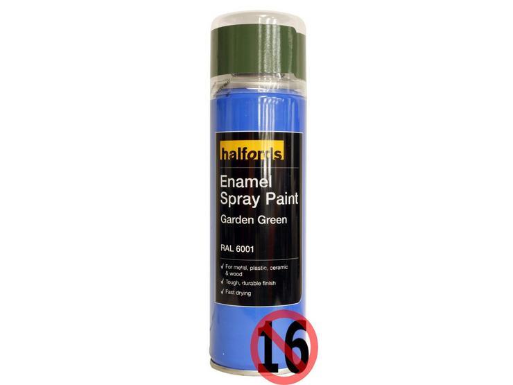Halfords Enamel Spray Paint Garden Green 300ml