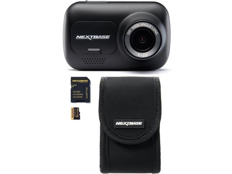 Nextbase 122 Dash Cam, Carry Case & SD Card Bundle