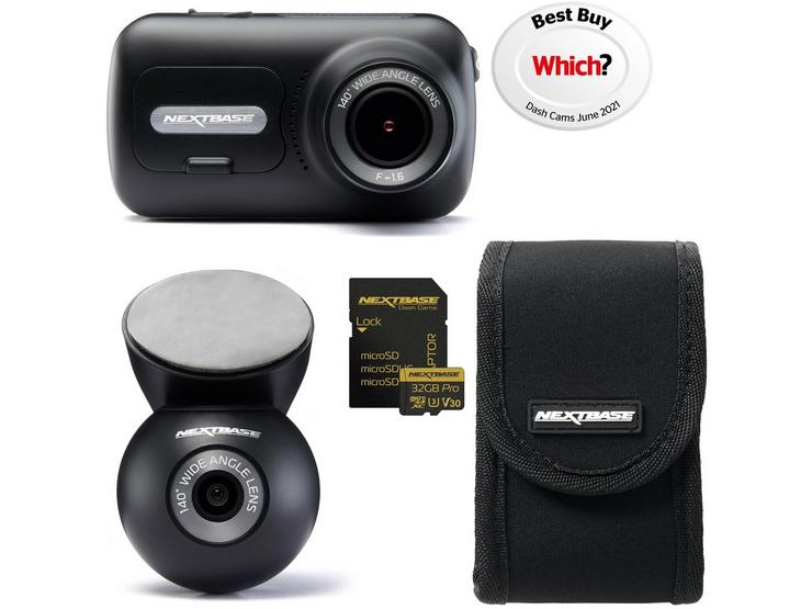 Nextbase 322GW Front & Rear Dash Cam Bundle with Fitting