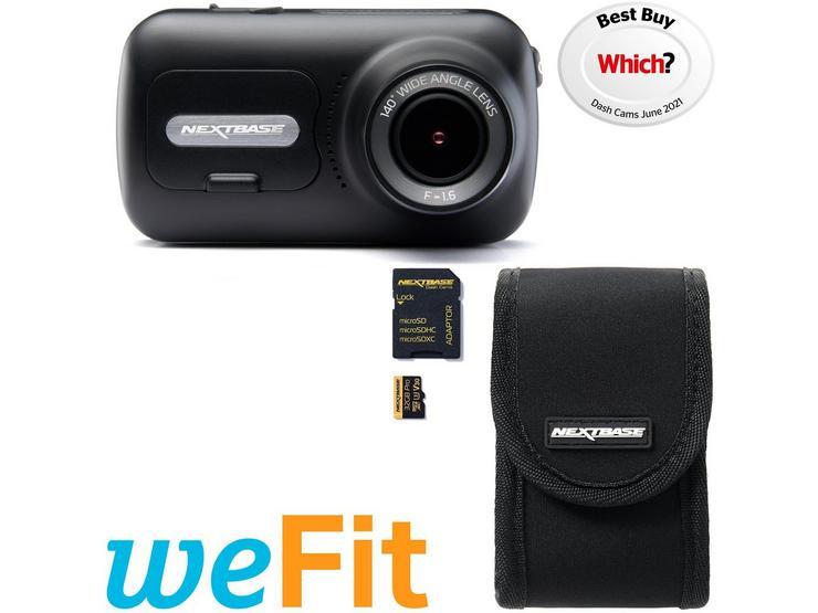 Nextbase 322GW Dash Cam, Carry Case & SD Card Bundle