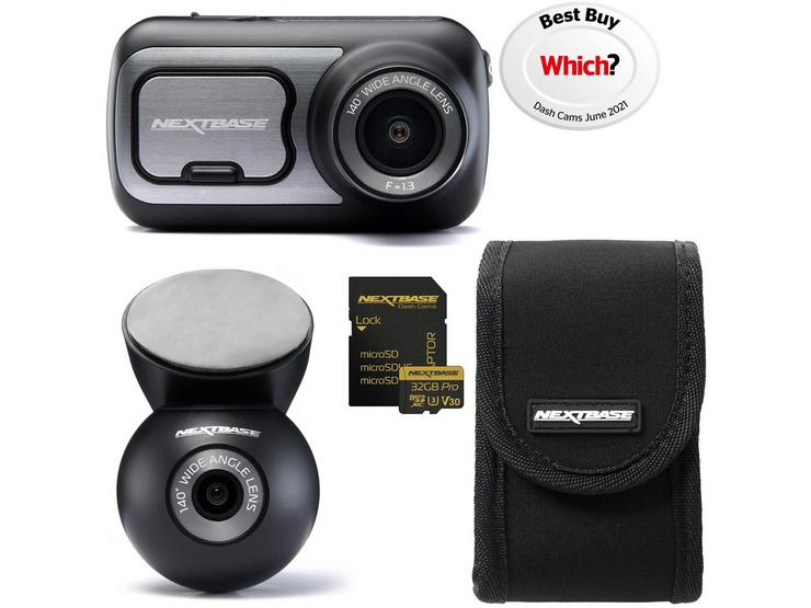 Nextbase 422GW Front & Rear Dash Cam Bundle with Fitting