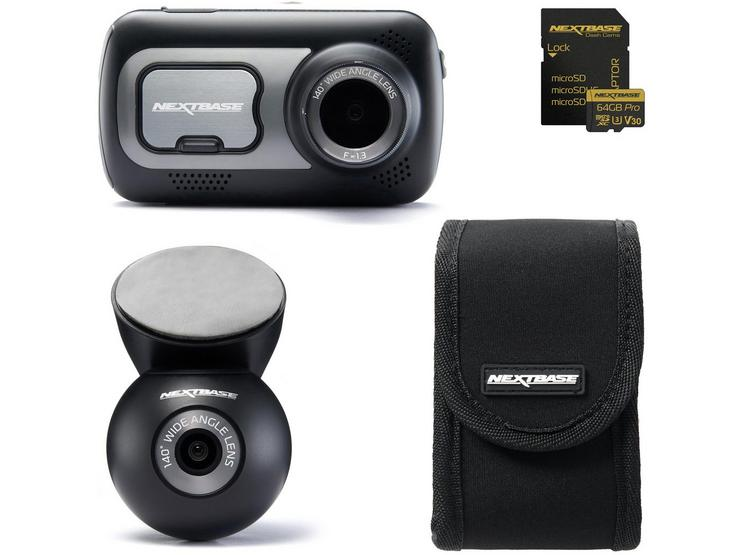 Nextbase 522GW Front & Rear Dash Cam Bundle with Fitting