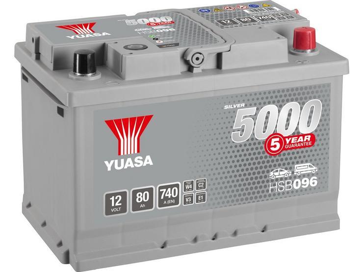 Yuasa HSB096 Silver 12V Car Battery 5 Year Guarantee