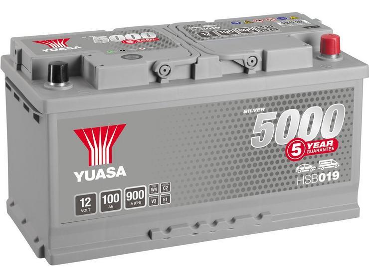 Yuasa  HSB019 Silver 12V Car Battery 5 Year Guarantee
