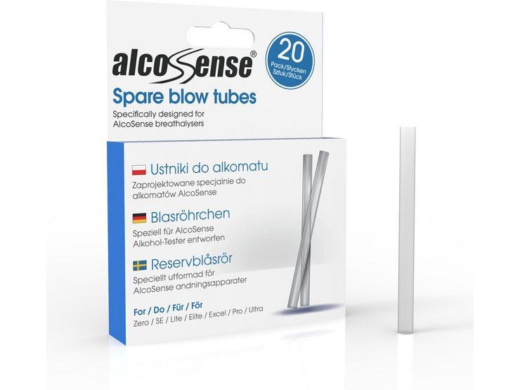 AlcoSense Breathalyser Blow Tubes x 20