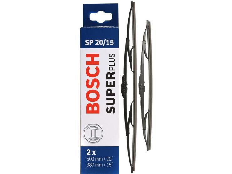 Bosch SP20/15 Wiper Blades - Front Pair