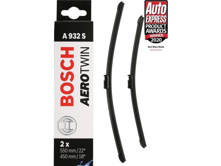 Bosch A932S Wiper Blades - Front Pair