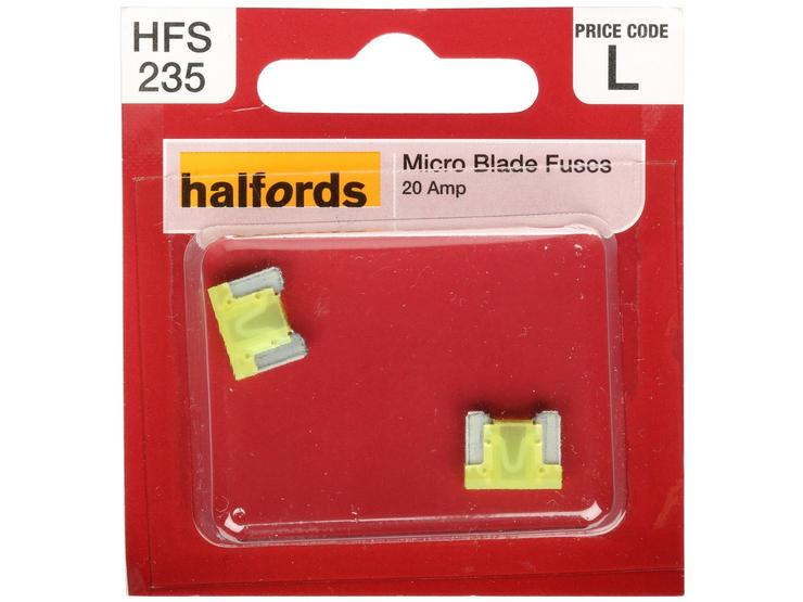 Halfords Micro Blade Fuse 20 Amp (HFS235)