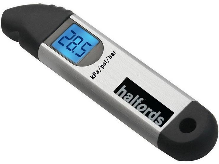 Halfords LED Digital Tyre Pressure Gauge