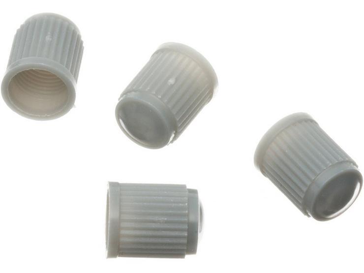 Halfords Silver Plastic Valve Cap x4 HFX718