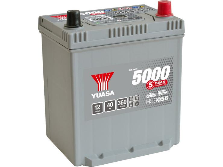 Yuasa HSB056 Silver 12V Car Battery 5 Year Guarantee