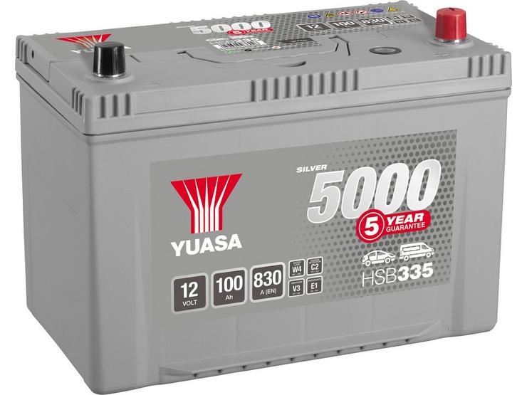 Yuasa HSB335 Silver 12V Car Battery 5 Year Guarantee