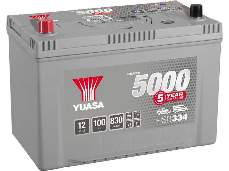 Yuasa HSB334 Silver 12V Car Battery 5 Year Guarantee