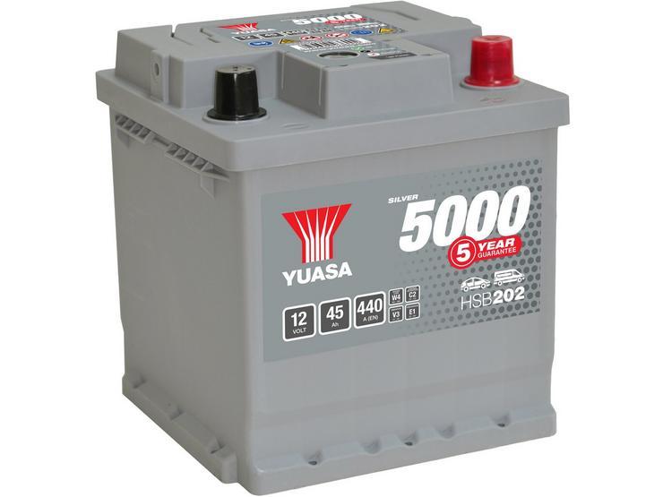 Yuasa HSB202 Silver 12V Car Battery 5 Year Guarantee