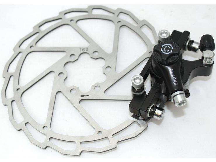 Clarks Mechanical Disc Brake Kit + 160mm Rotor