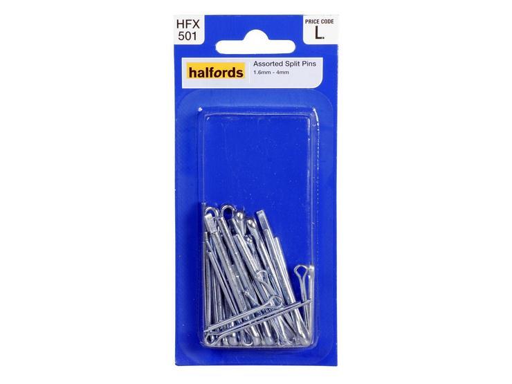 Halfords Assorted Split Pins (HFX501)