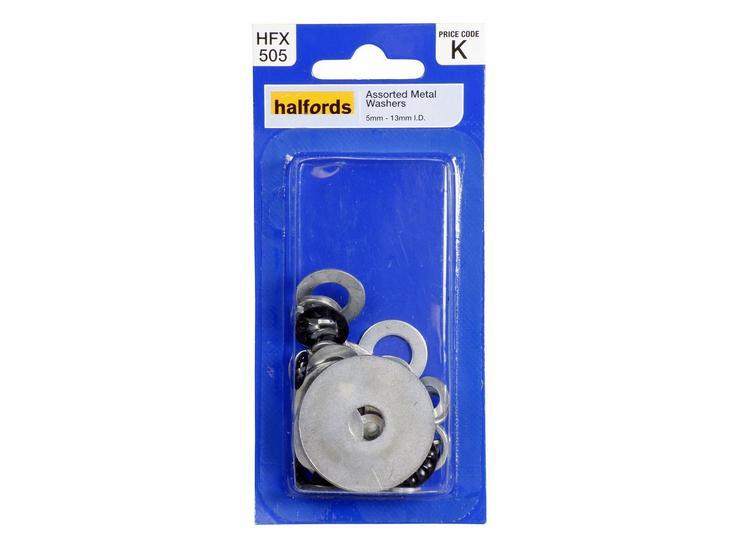 Halfords Assorted Metal Washers (HFX505)