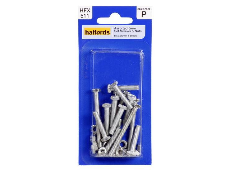 Halfords Assorted Screws & Nuts (HFX511) 5mm
