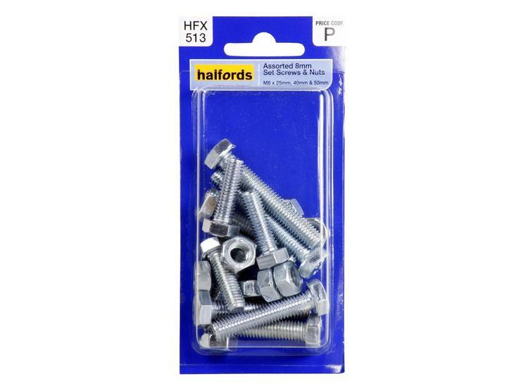 Halfords Assorted Screws & Nuts (HFX513) 8mm
