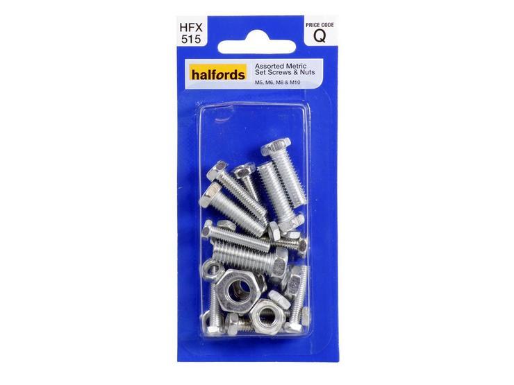 Halfords Assorted Metric Screws & Nuts (HFX515)