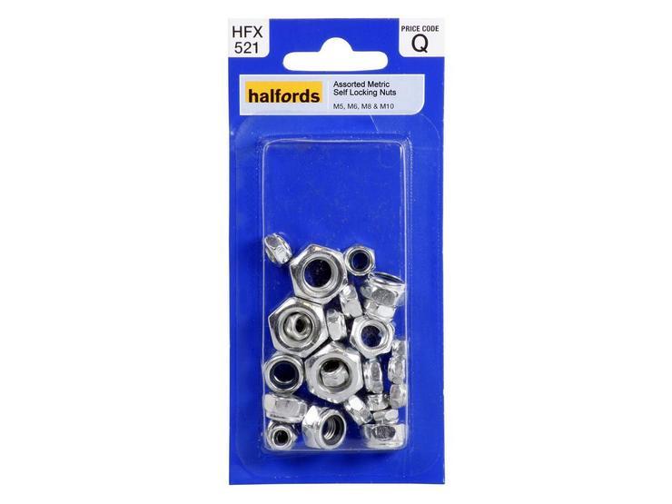 Halfords Assorted Metric Self Locking Nuts (HFX521)