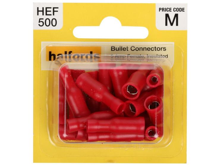 Halfords Bullet Connectors (HEF500) 5 Amp/Female