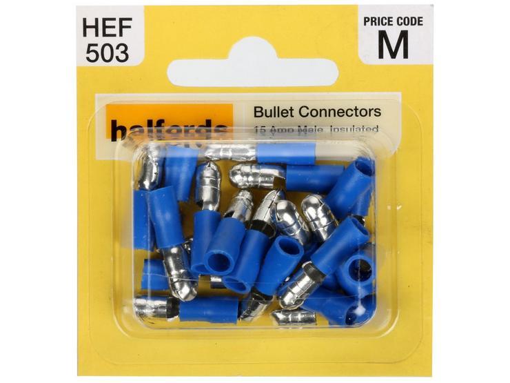 Halfords Bullet Connectors (HEF503) 15 Amp/Male