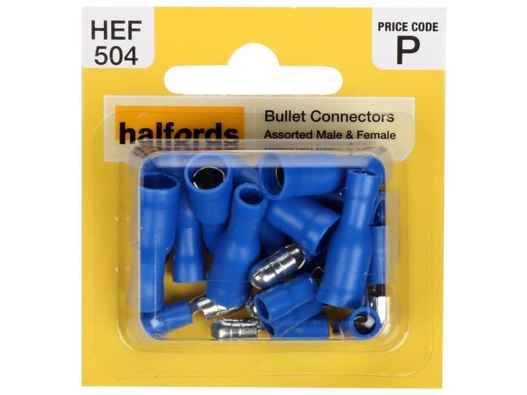 Halfords Assorted Bullet Connectors (HEF504)