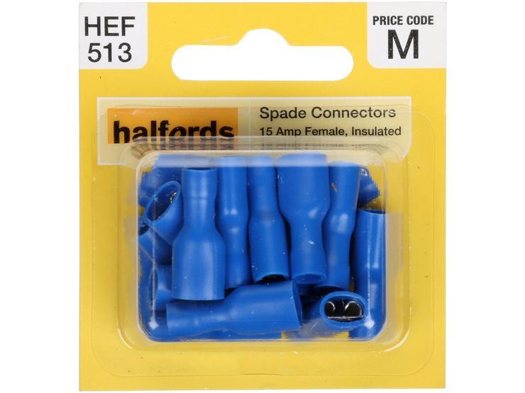 Halfords Spade Connectors (HEF513) 15 Amp/Female