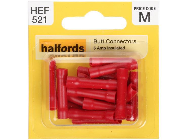 Halfords Butt Connectors (HEF521) 5 Amp